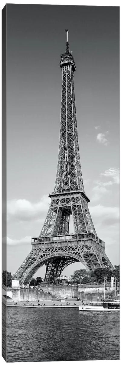 Paris Eiffel Tower & River Seine Panorama Canvas Art Print