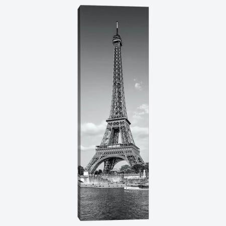 Paris Eiffel Tower & River Seine Panorama Canvas Print #MEV176} by Melanie Viola Canvas Art Print