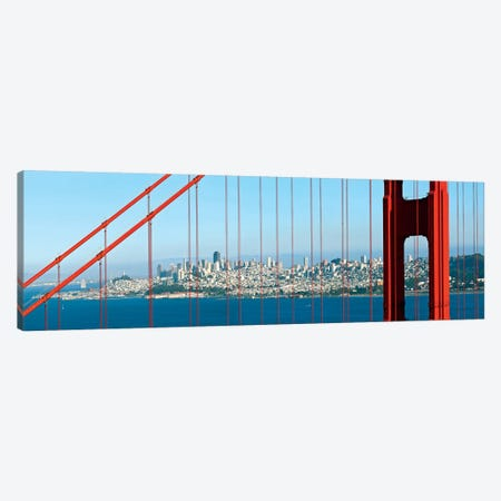 San Francisco Panorama 3-Piece Canvas #MEV181} by Melanie Viola Art Print
