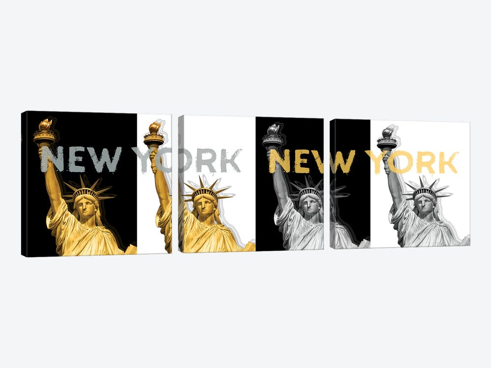 Statue Of Liberty I  by Melanie Viola 3-piece Canvas Art Print