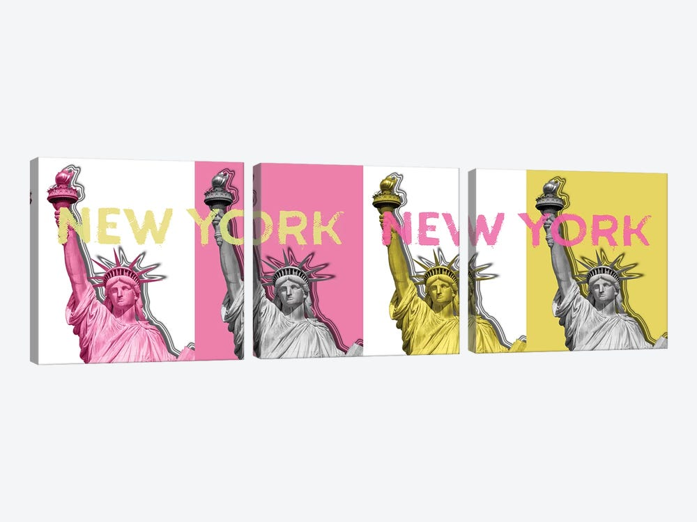 Statue Of Liberty II by Melanie Viola 3-piece Canvas Art