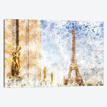 Paris Eiffel Tower & Trocadero Canvas Print #MEV18} by Melanie Viola Art Print