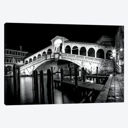 Venice Rialto Bridge At Night Canvas Print #MEV195} by Melanie Viola Canvas Art Print