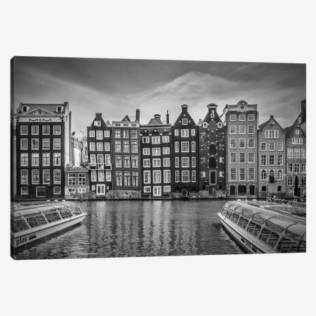 Amsterdam Damrak And Dancing Houses Canvas Print #MEV197} by Melanie Viola Canvas Print