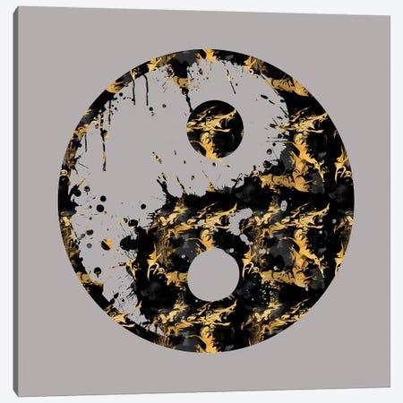 Abstract Yin And Yang Taijitu Symbol Canvas Print #MEV1} by Melanie Viola Canvas Art