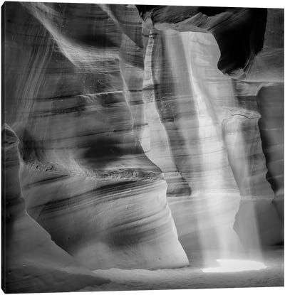 Antelope Canyon Lightbeam Canvas Art Print