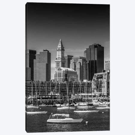 Boston Skyline North End & Financial District Canvas Print #MEV209} by Melanie Viola Canvas Wall Art