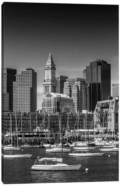 Boston Skyline North End & Financial District Canvas Art Print