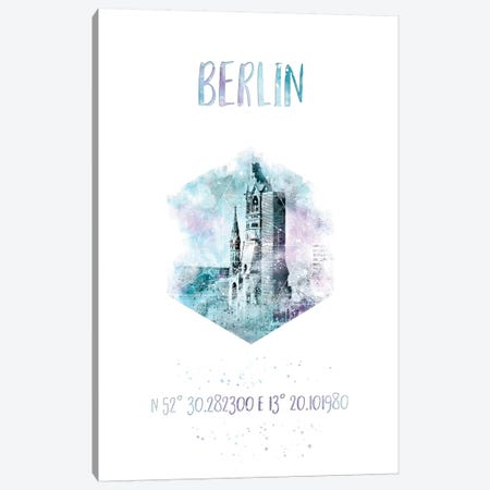 Coordinates Berlin Canvas Print #MEV20} by Melanie Viola Canvas Art