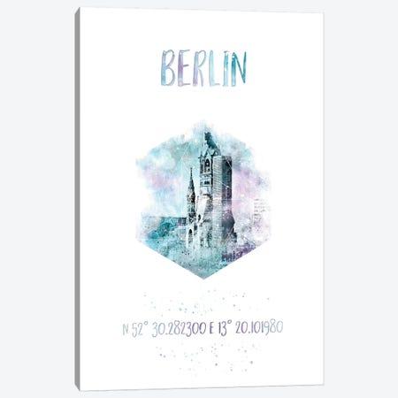 Coordinates Berlin Canvas Print #MEV20} by Melanie Viola Canvas Art