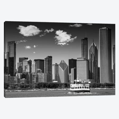 Chicago Skyline Canvas Print #MEV210} by Melanie Viola Canvas Art Print