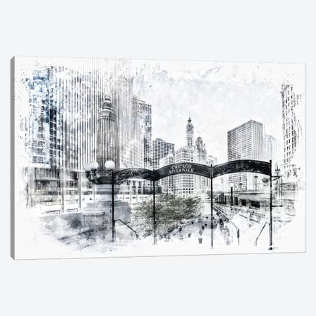 City Art Chicago Downtown Canvas Print #MEV211} by Melanie Viola Art Print