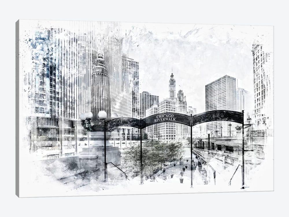 City Art Chicago Downtown by Melanie Viola 1-piece Canvas Art Print