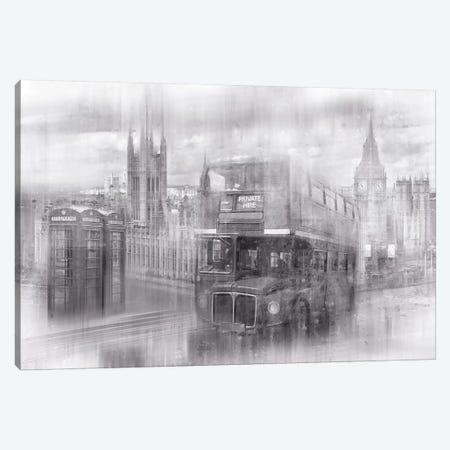 City Art London Westminster Collage Canvas Print #MEV212} by Melanie Viola Canvas Art Print