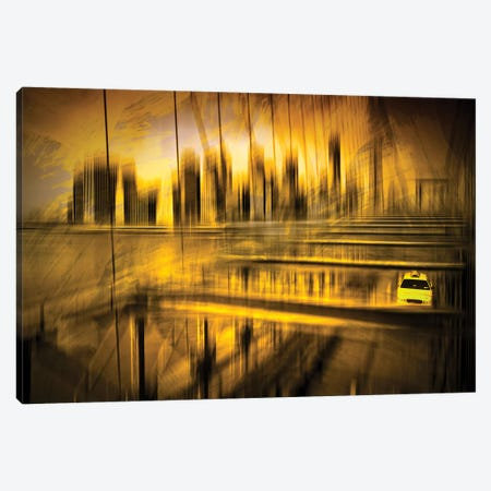 City Shapes NYC Canvas Print #MEV213} by Melanie Viola Art Print