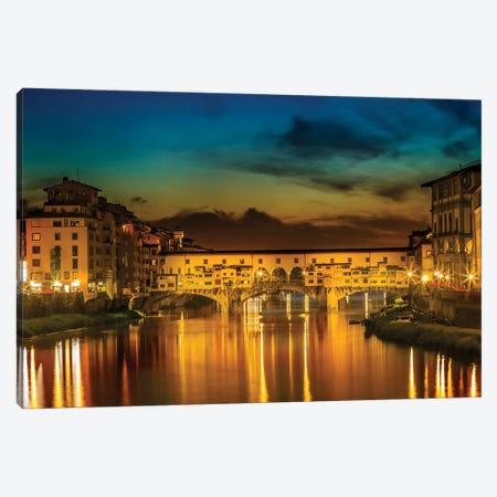 Florence Ponte Vecchio At Sunset Canvas Print #MEV216} by Melanie Viola Canvas Artwork