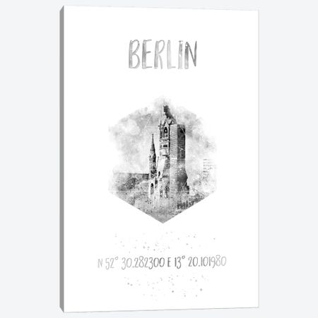 Coordinates Berlin Canvas Print #MEV21} by Melanie Viola Canvas Art