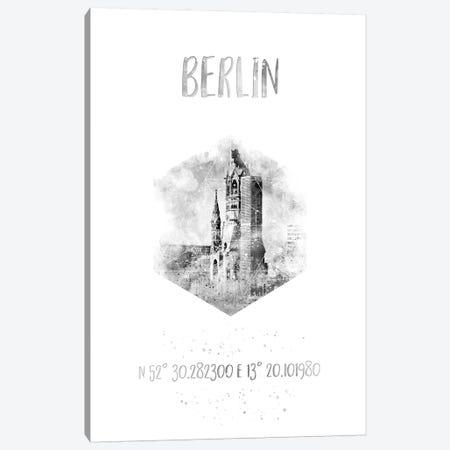 Coordinates Berlin Canvas Print #MEV21} by Melanie Viola Canvas Art