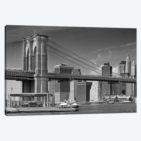 Manhattan Skyline & Brooklyn Bridge Canvas Print #MEV221} by Melanie Viola Canvas Art