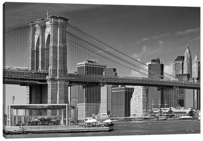 Manhattan Skyline & Brooklyn Bridge Canvas Art Print