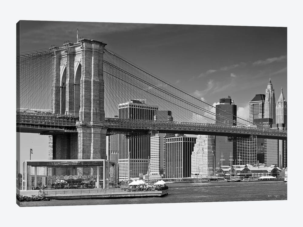 Manhattan Skyline & Brooklyn Bridge by Melanie Viola 1-piece Canvas Artwork