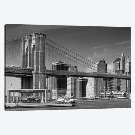 Manhattan Skyline & Brooklyn Bridge Canvas Print #MEV221} by Melanie Viola Canvas Art