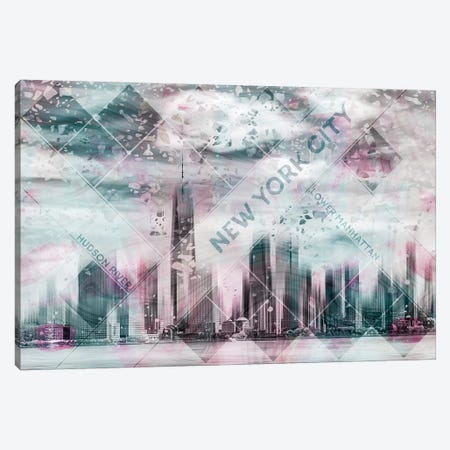 Modern Art Lower Manhattan Canvas Print #MEV223} by Melanie Viola Canvas Artwork