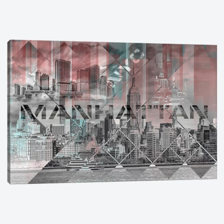 Modern Art Manhattan Collage Canvas Print #MEV224} by Melanie Viola Art Print