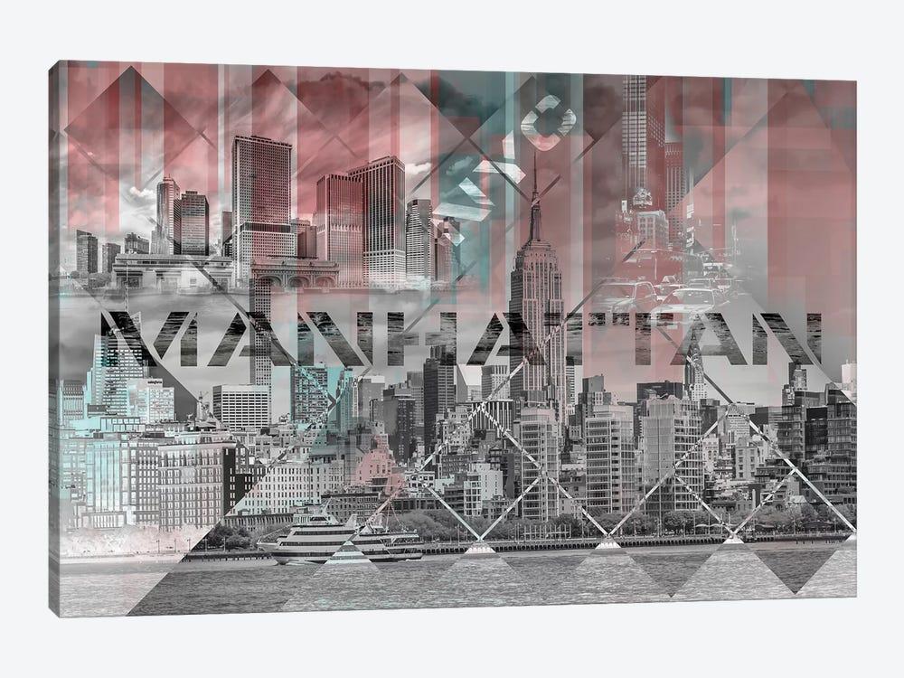 Modern Art Manhattan Collage by Melanie Viola 1-piece Canvas Art Print