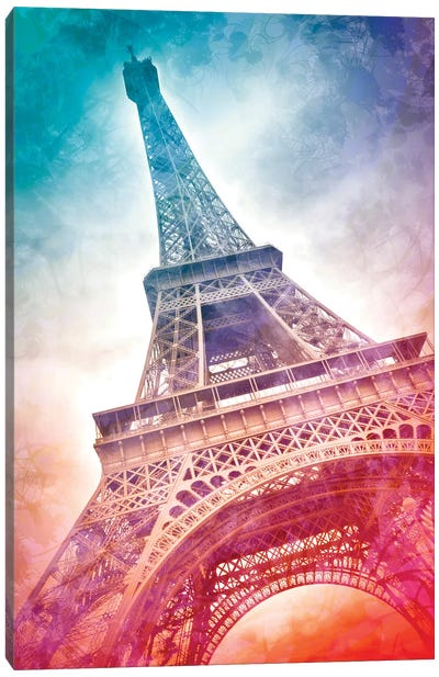 Modern Art Paris Eiffel Tower Canvas Art Print