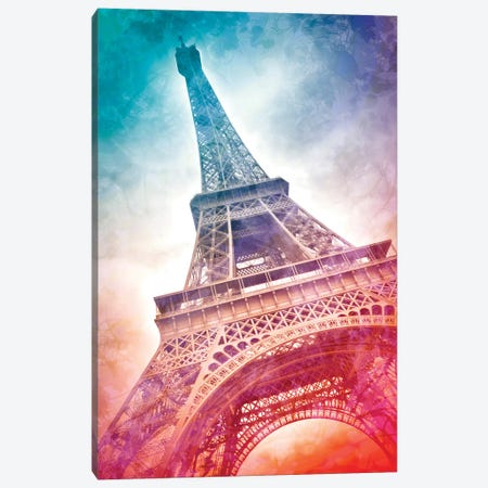 Modern Art Paris Eiffel Tower 3-Piece Canvas #MEV225} by Melanie Viola Canvas Art Print