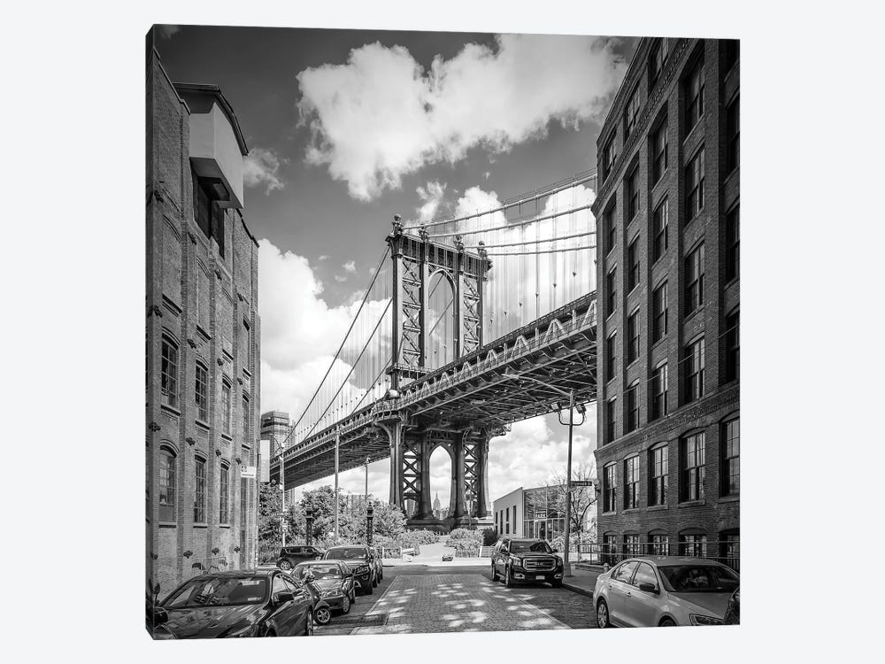 New York City Manhattan Bridge 1-piece Canvas Wall Art