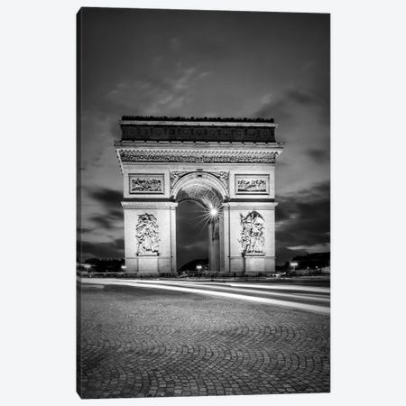 Paris Arc De Triomphe Canvas Print #MEV233} by Melanie Viola Art Print