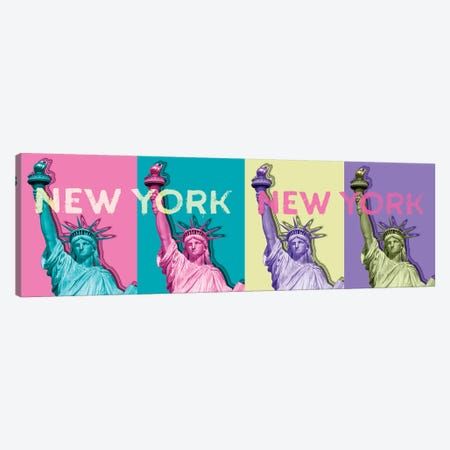 Pop Art Statue Of Liberty III Canvas Print #MEV235} by Melanie Viola Canvas Wall Art
