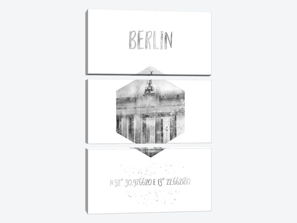 Coordinates Berlin Brandenburg Gate by Melanie Viola 3-piece Art Print