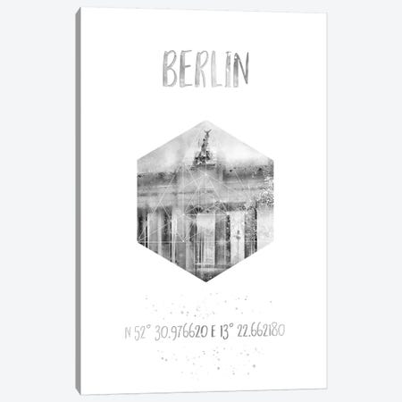 Coordinates Berlin Brandenburg Gate Canvas Print #MEV23} by Melanie Viola Canvas Wall Art
