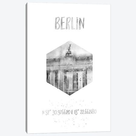 Coordinates Berlin Brandenburg Gate Canvas Print #MEV23} by Melanie Viola Canvas Wall Art