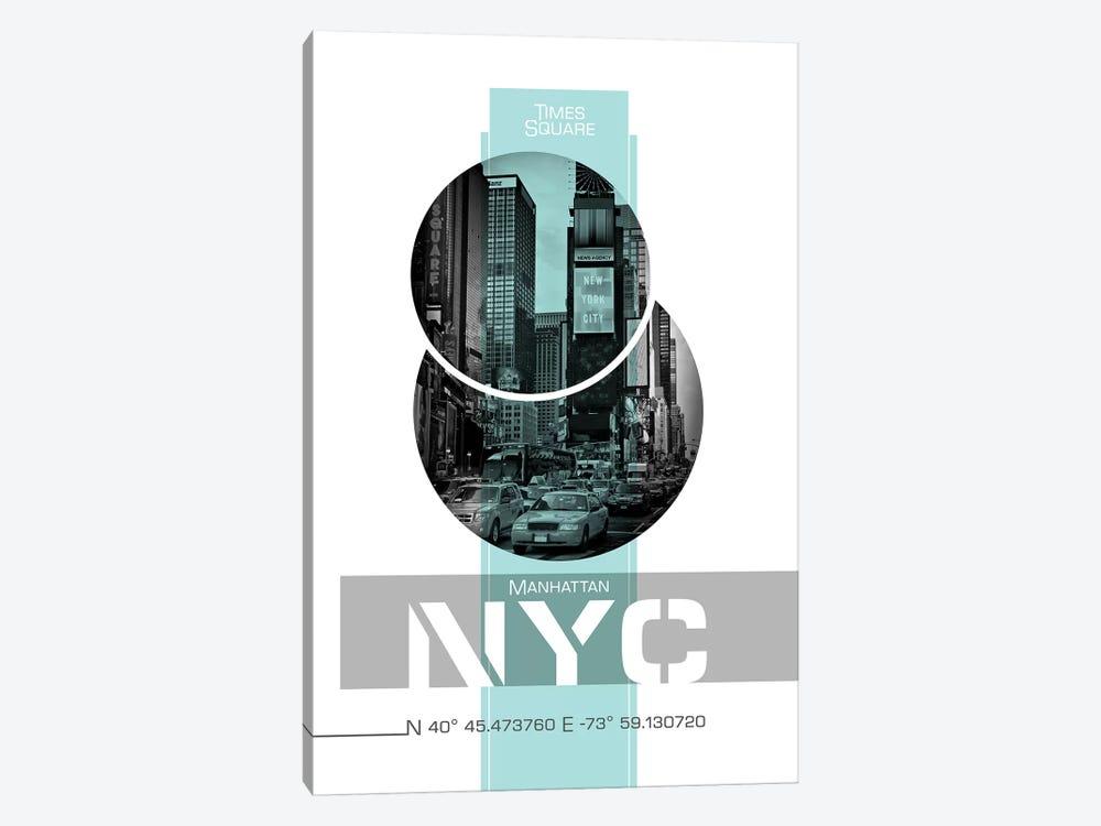 Poster Art Nyc Times Square Turquoise Art Print Melanie Viola Icanvas