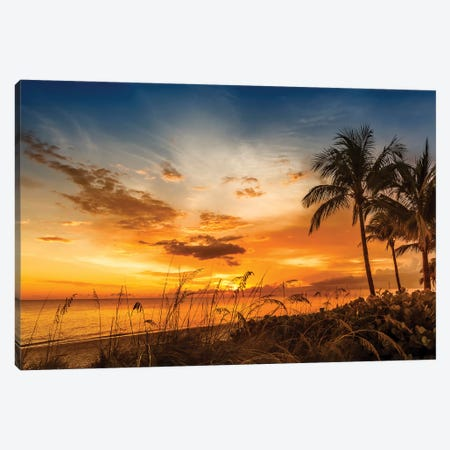 Bonita Beach Bright Sunset Canvas Print #MEV249} by Melanie Viola Canvas Art