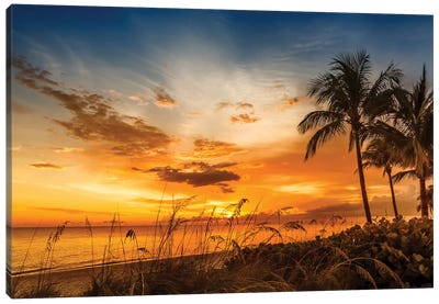 Bonita Beach Bright Sunset Canvas Art Print