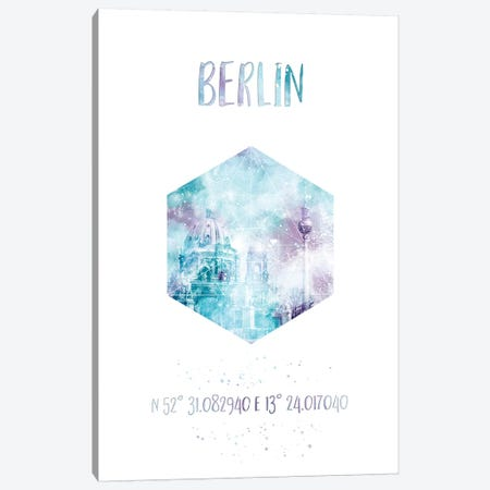 Coordinates Berlin Cathedral & Television Tower Canvas Print #MEV24} by Melanie Viola Canvas Art Print