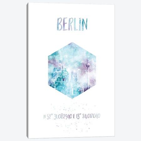 Coordinates Berlin Cathedral & Television Tower Canvas Print #MEV24} by Melanie Viola Canvas Art Print