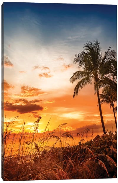 Bonita Beach Romantic Sunset Canvas Art Print
