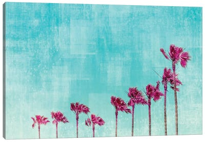 California Vibes In Psychadelic Colors Canvas Art Print