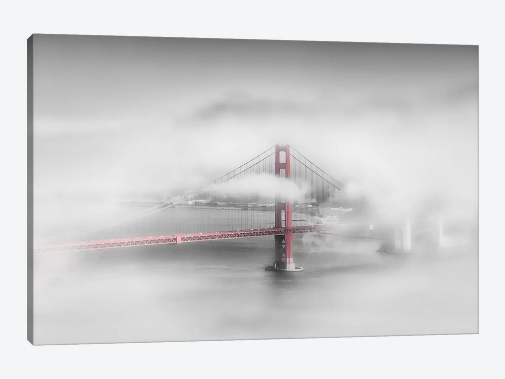 Foggy Golden Gate Bridge by Melanie Viola 1-piece Canvas Wall Art