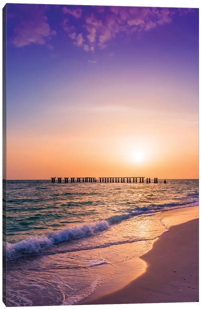 Gasparilla Island Sunset Canvas Art Print