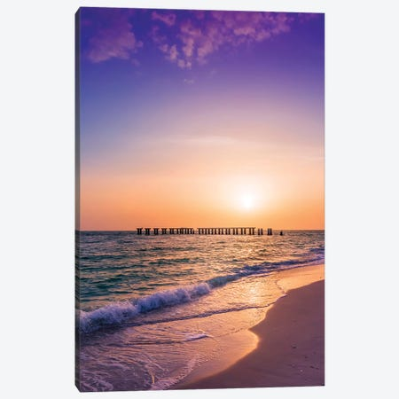 Gasparilla Island Sunset Canvas Print #MEV259} by Melanie Viola Canvas Print