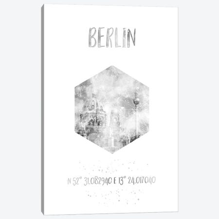 Coordinates Berlin Cathedral & Television Tower Canvas Print #MEV25} by Melanie Viola Canvas Print
