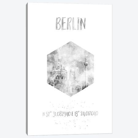 Coordinates Berlin Cathedral & Television Tower Canvas Print #MEV25} by Melanie Viola Canvas Print
