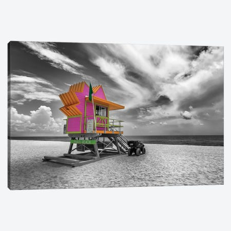 Miami Beach Flair Canvas Print #MEV275} by Melanie Viola Canvas Artwork